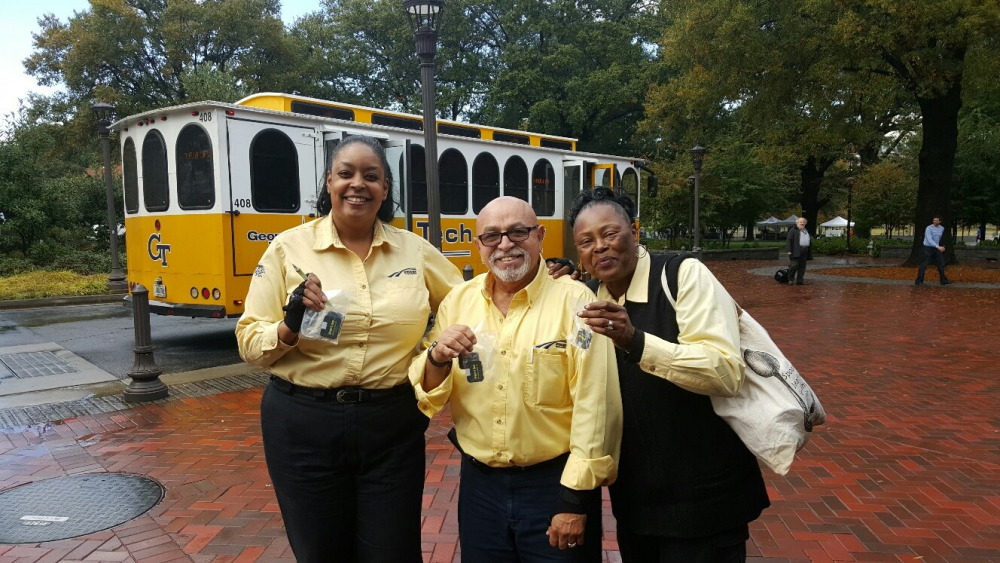 ALL SMILES: Tech Transit drivers love being a part of the Yellow Jacket community.