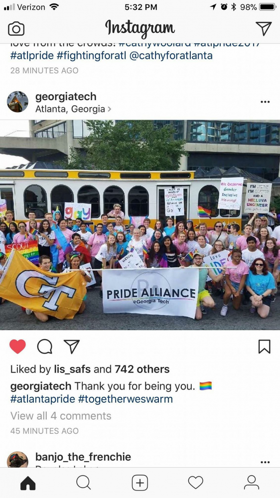 TECH PRIDE: The Trolley made several iconic appearances around Atlanta, including the city's annual Pride parade in 2019.