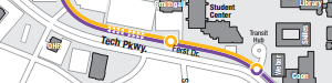 Snippet of Tech Trolley route